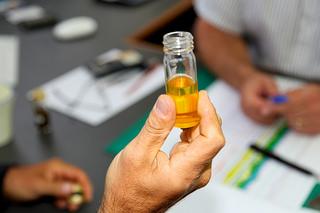 Beaker with liquid