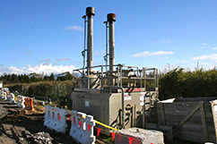 """No more flaring to dirt pits for TAG! This is one of our new """"flare stacks"""" with built in containment. Though commonplace in Canada, this is a first in New Zealand. Other New Zealand operators are very interested to see how these work, as are the regulatory bodies in New Zealand."""