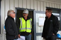 Jack, Steve and Paul take a minute to work on logistics.