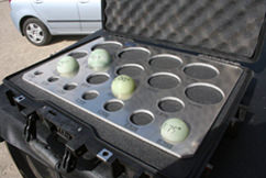 These are the actual balls we used for our multi-phase frac - forgot I had this photo on the camera