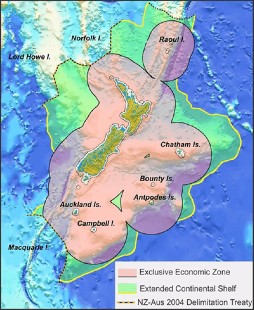 Exclusive Economic Zone (EEZ) of New Zealand