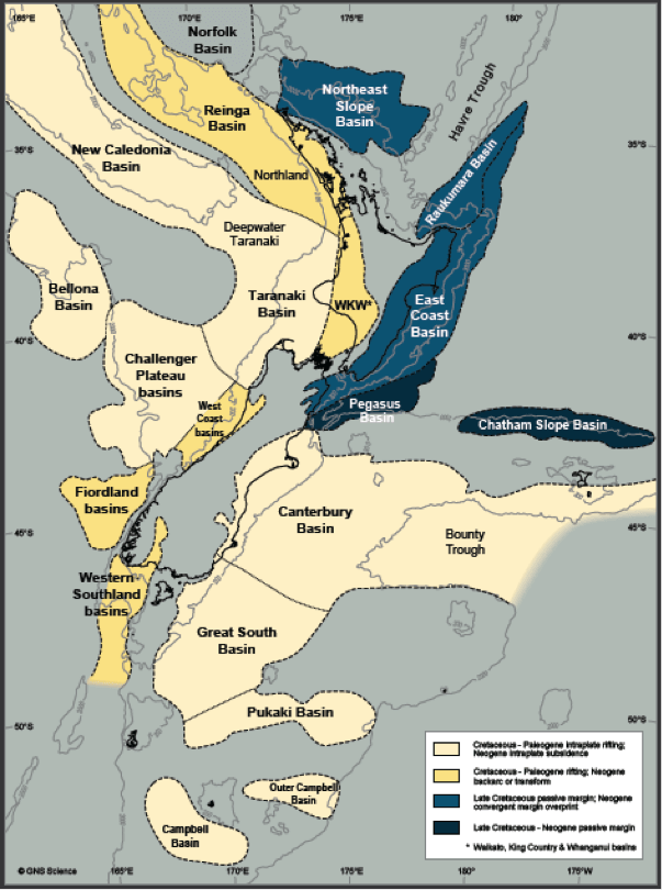 New Zealand Oil Basins