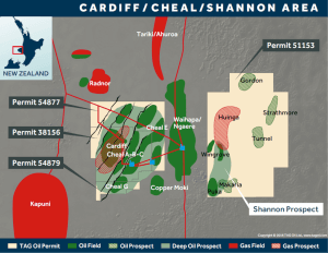 TAG Oil's Shannon Prospect Permit Map