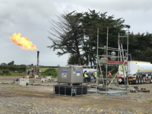 The Cardiff-3 well testing gas and condensates from the Kapuni Formation.