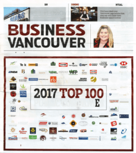 B.C.'s top 100 publically traded companies for 2017